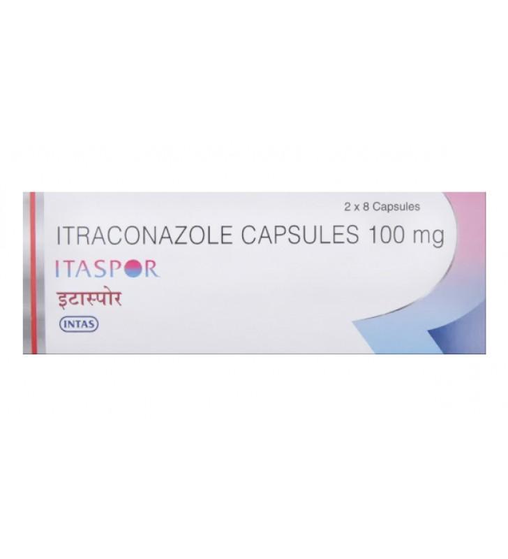 Itraconazole (Itaspor) 100 mg Capsuleis