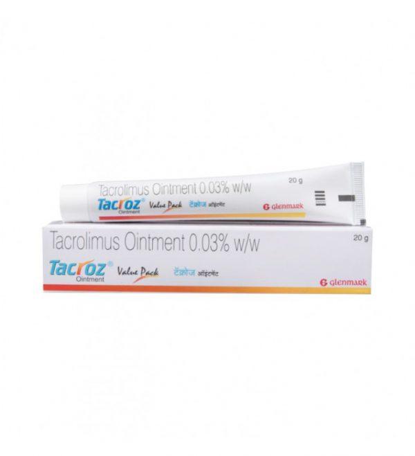 Tacrolimus (Tacroz) 0.03% w/v Ointment